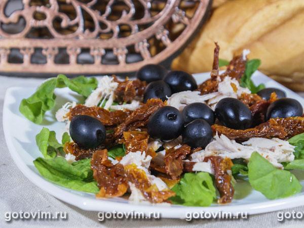 рецепты салатов с вялеными помидорами и курицей