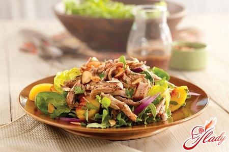 салат с мясом рецепт с фото