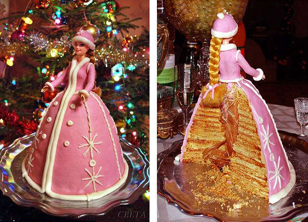 Торт с куклой пошаговый фото