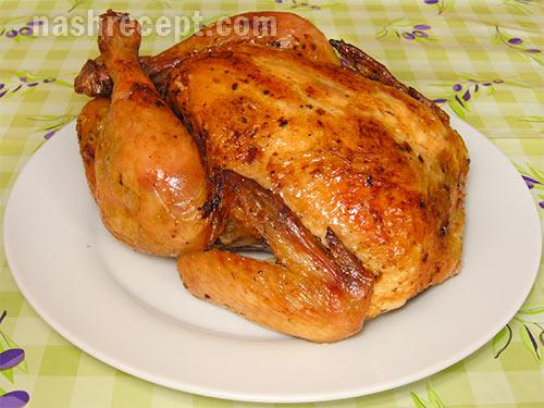 Рецепт целой курицы запеченной в духовке с
