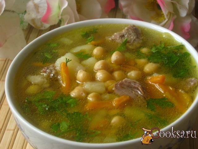 суп с нутом и курицей рецепт с фото пошагово