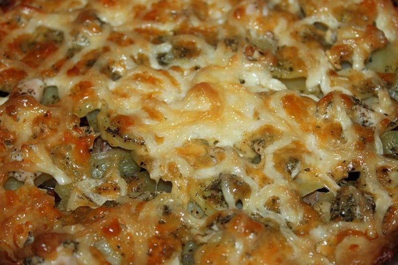 картошка со свининой в духовке рецепт с фото с сыром и