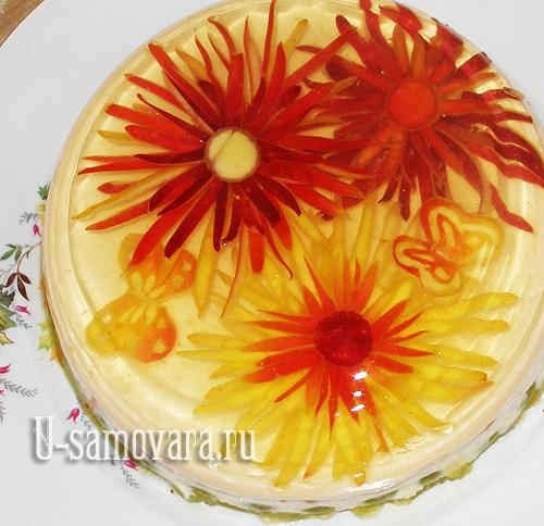 рецепт торта на сковороде с фруктами