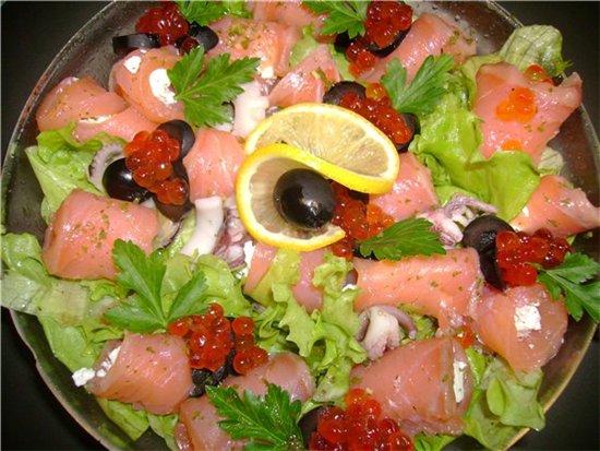рецепты салатов из морского коктейля с фотографиями
