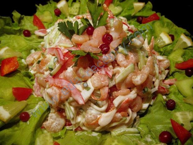 Салат из курицы и кальмаров рецепт