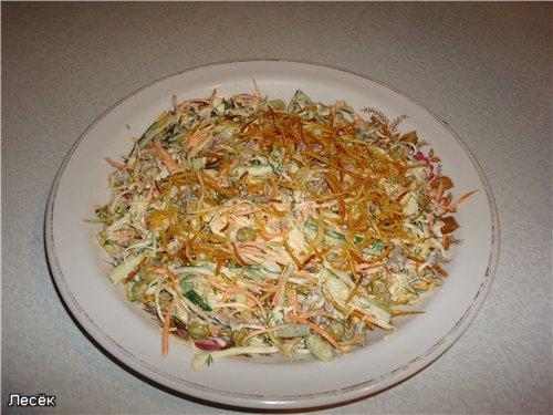 Огни парижа салат рецепт