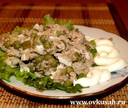 Салат из печени минтая с фото