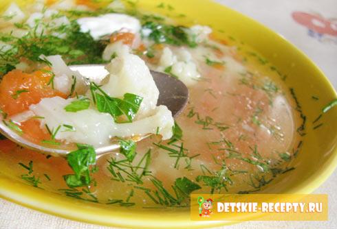 рецепт супа из цветной капусты с мясом
