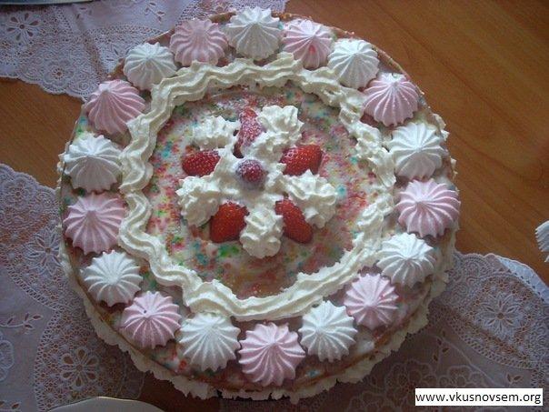 Торт с зефиром рецепт из готовых коржей