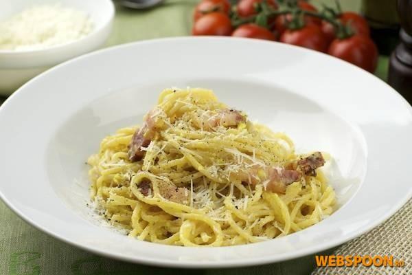 паста карбонара классический итальянский рецепт с фото