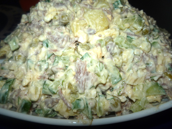 Мясной салат с говядиной рецепт с фото
