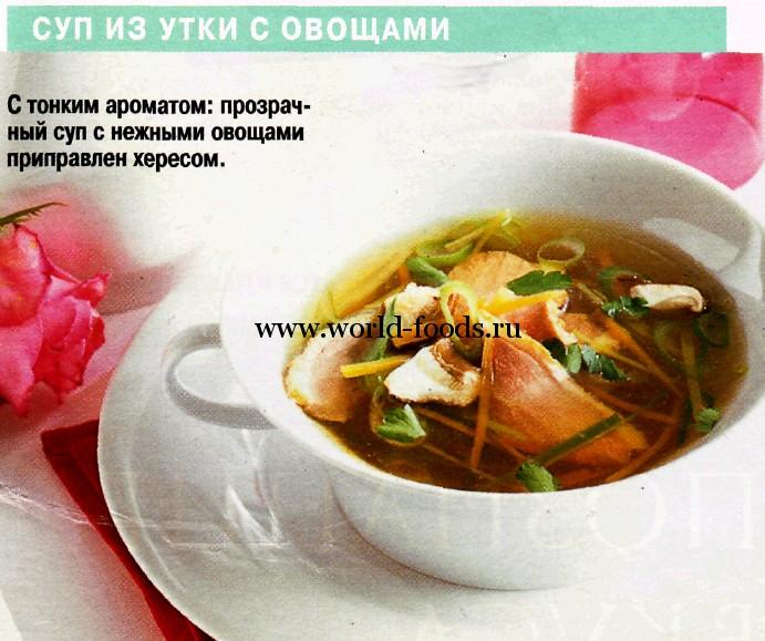 Утка суп рецепты приготовления с фото