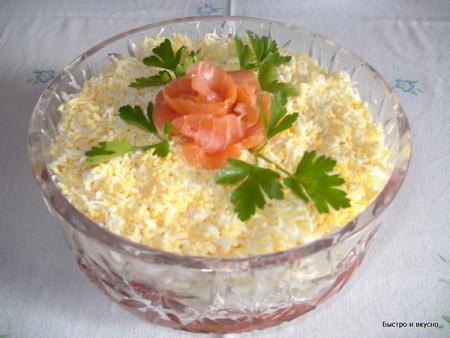 салат из слабосоленой семги рецепты фото