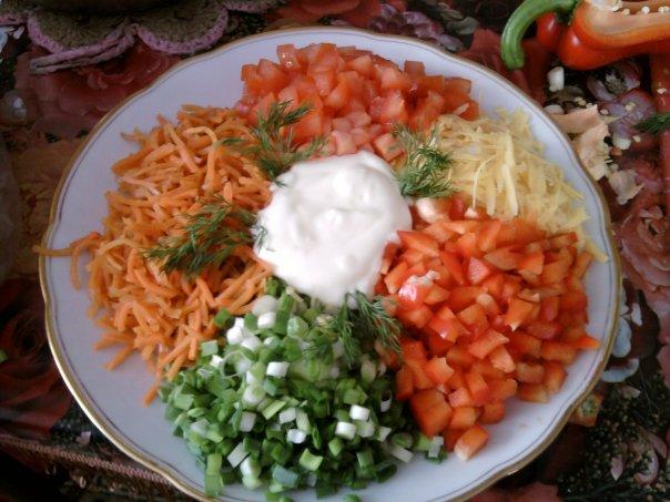 рецепты салатов калейдаскоп с фото